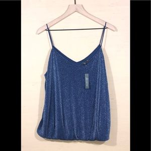 The Limited Blue Sparkle Cami - XL NWT